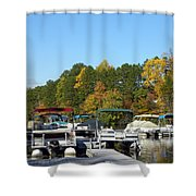 Marina In Fall Shower Curtain
