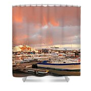 Marina In The Azores Shower Curtain