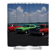 Marine City Car Show Shower Curtain
