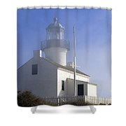 Marine Fog At Pt. Loma Shower Curtain