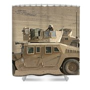 Marine Looks For Suspicious Activity Shower Curtain