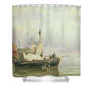 Marine Scene  Shower Curtain