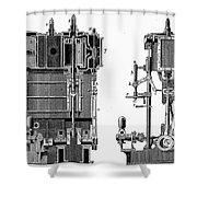 Marine Steam Engine, 1878 Shower Curtain