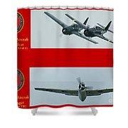 Marine Wildcat And Avenger Shower Curtain