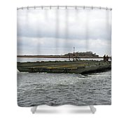 Marines And Sailors Tow An Improved Shower Curtain