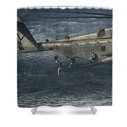 Marines Conduct Insertion Exercises Shower Curtain