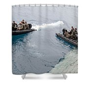 Marines Depart The Well Deck Shower Curtain