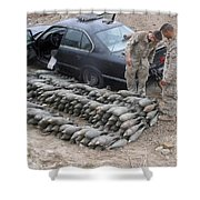 Marines Discover A Weapons Cache Shower Curtain by Stocktrek Images