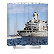 Marines In An Inflatable Boat Head Shower Curtain
