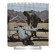 Marines Move An Rq-7 Shadow Unmanned Shower Curtain
