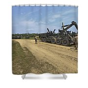 Marines Offload A Logistics Vehicle Shower Curtain