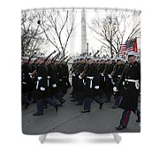 Marines Participate In The 2009 Shower Curtain