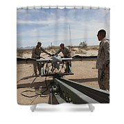Marines Place An Rq-7 Shadow Unmanned Shower Curtain