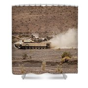 Marines Roll Through The Combat Center Shower Curtain
