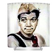 Mario Moreno As Cantinflas In El Bombero Atomico  Shower Curtain