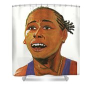 Marion Jones Shower Curtain