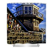 Maritime Lookout Acadia Maine Shower Curtain