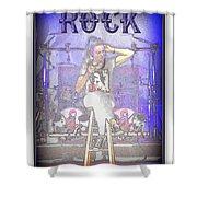 Marjo Rock  Shower Curtain