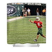Mark Sanchez Ny Jets Quarterback Shower Curtain