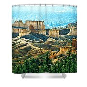 Markagunt Plateau In Zion National Shower Curtain
