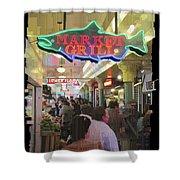 Market Grill 3 Shower Curtain