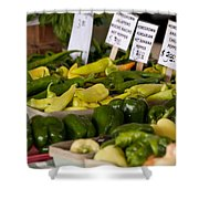 Market Peppers Shower Curtain
