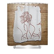 Market Seller 5 Shower Curtain