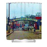 Market Street From Penns Landing Philadelphia Shower Curtain