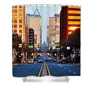 Market Street In The Morning Shower Curtain