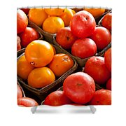 Market Tomatoes Shower Curtain by Lauri Novak