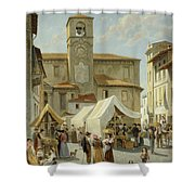 Marketday In Desanzano  Shower Curtain