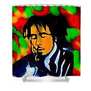 Marley Rasta Guitar Shower Curtain