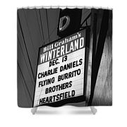 Marquee At Winterland In Late 1975 Shower Curtain