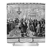 Marriage Contract, 1645 Shower Curtain