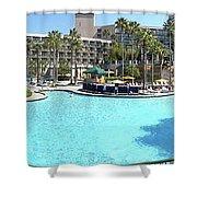 Marriott Hotel Swimming Pool Panorama Orlando Fl Shower Curtain