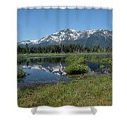 marsh Flowing to Lake Tahoe Shower Curtain