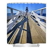 Marshal Point Lighthouse Walkway Shower Curtain