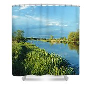 Marshlands In Spring, Unteres Odertal Shower Curtain