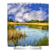 Marshlands On Isle Of Palms Shower Curtain