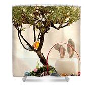 Marshmallow Bunny Shower Curtain