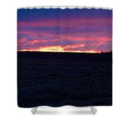 Martimoaapa The Burning Sky Shower Curtain