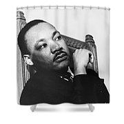 Martin Luther King, Jr Shower Curtain by Photo Researchers