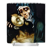 Mary And Jesus Painting At Peace Center Shower Curtain