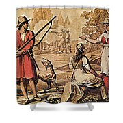 Mary Read And Anne Bonny, 18th Century Shower Curtain by Photo Researchers