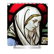 Mary Tears Shower Curtain