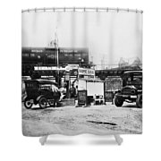 Maryland: Gas Station, C1921 Shower Curtain