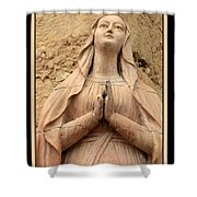Mary's Prayers Shower Curtain by Carol Groenen