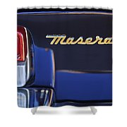 Maserati Ghibli Ss Taillight Emblem Shower Curtain