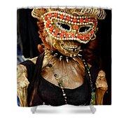 Mask Ball Shower Curtain