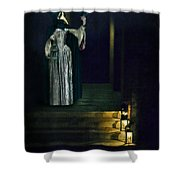 Masked Lady Shower Curtain